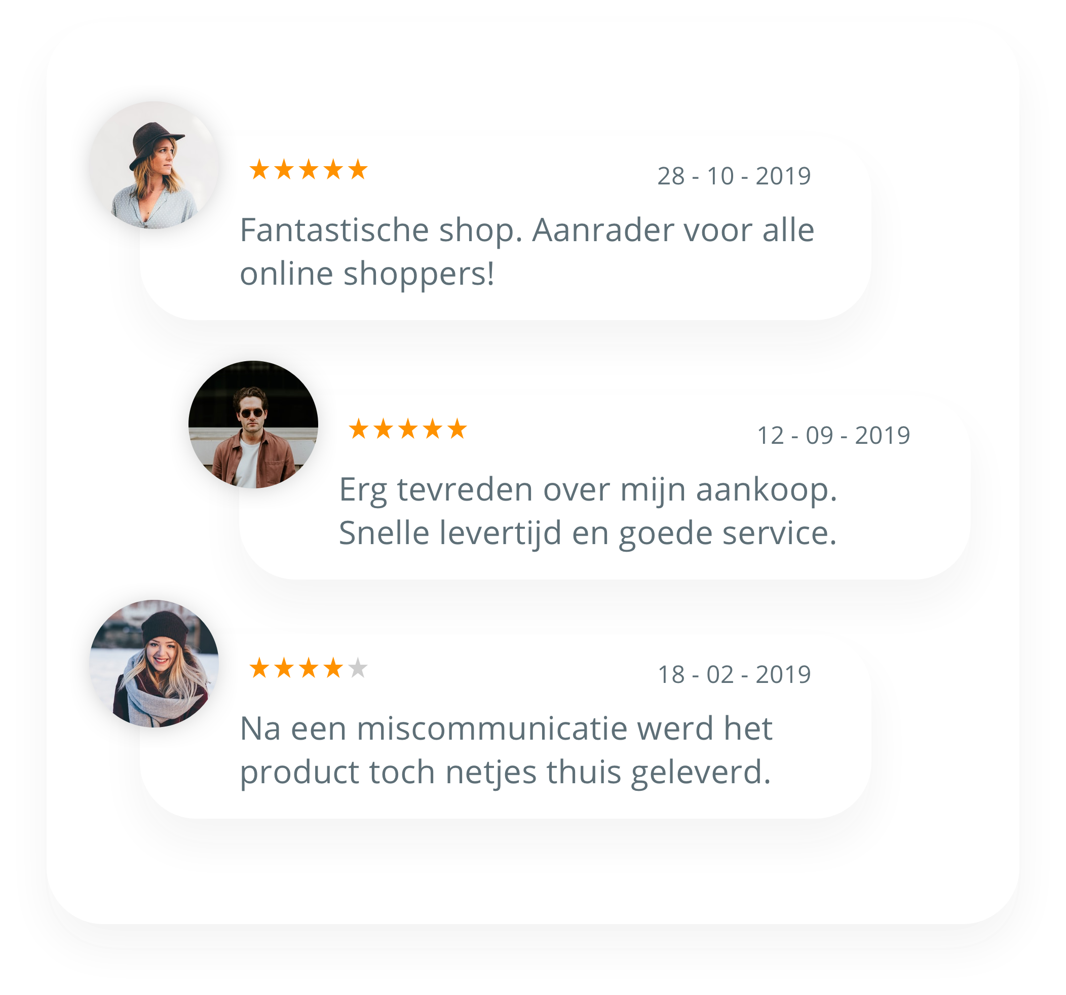 Reviews verzamelen